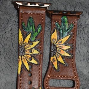 Sunflower and cactus Apple Watch Band